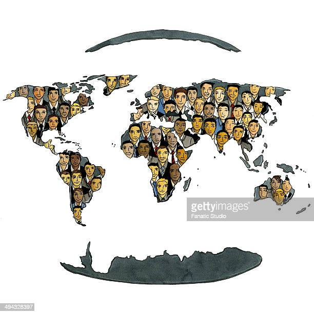 concept of global business and social networking - assistive technology stock illustrations, clip art, cartoons, & icons