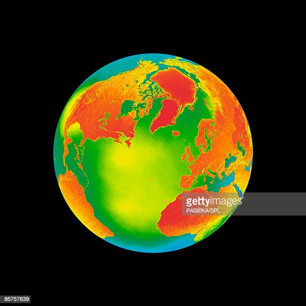Conceptual computer artwork of global warming