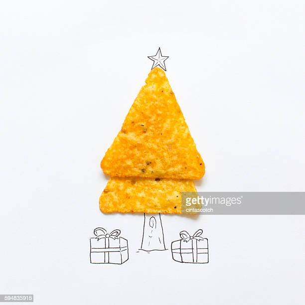 Conceptual drawing of a Christmas tree