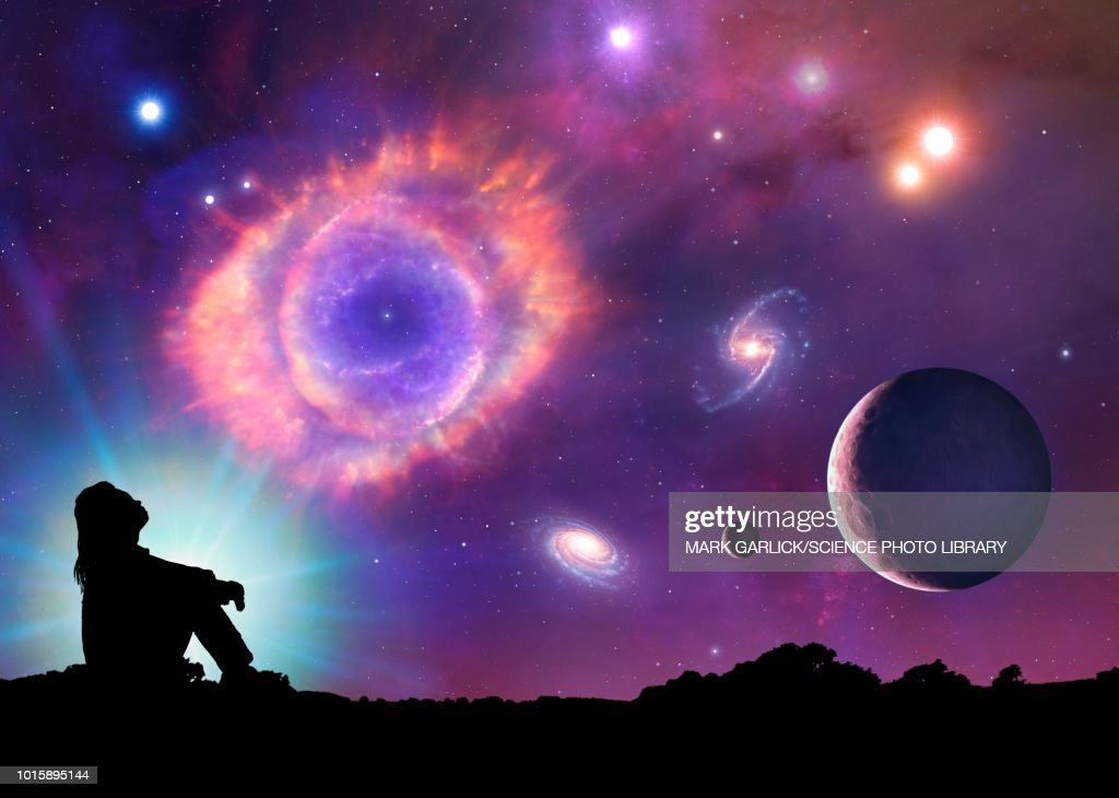 Conceptual illustration of space : stock illustration