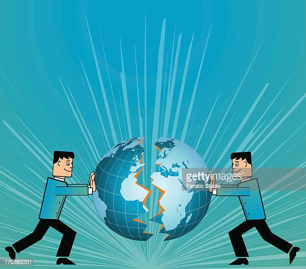 conceptual image representing the collaboration of two companies - legal document stock illustrations, clip art, cartoons, & icons