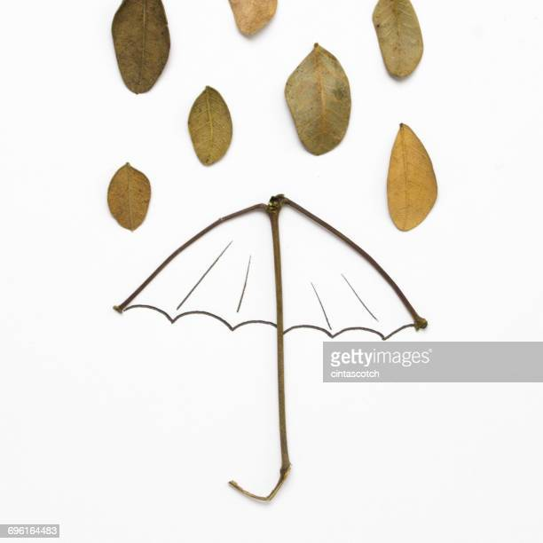 conceptual rain and umbrella - rain stock illustrations