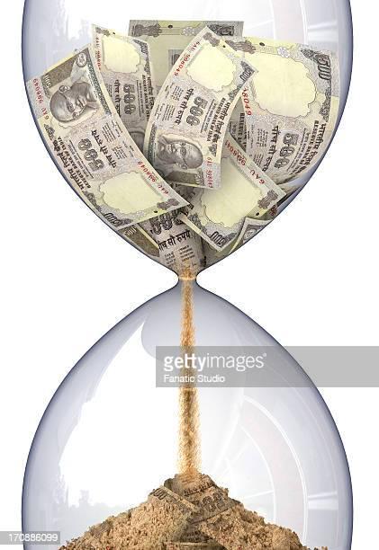 conceptual representation of time is money - cash flow stock illustrations, clip art, cartoons, & icons