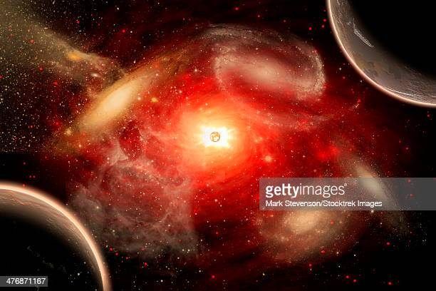 a conceptual view of part of our vast universe. - nebula stock illustrations
