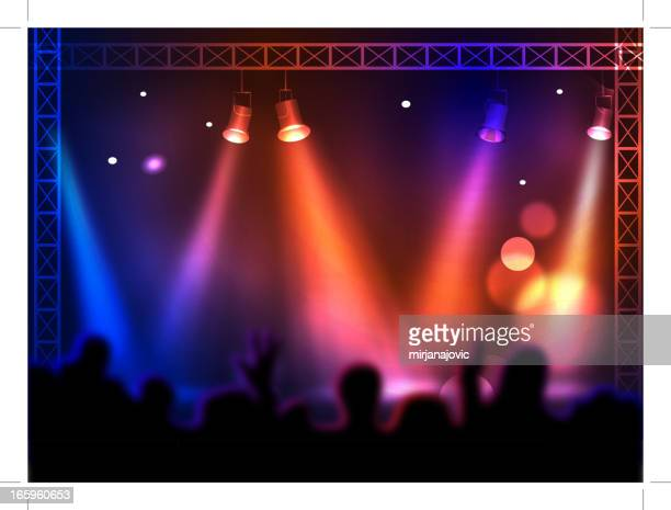 concert - stage light stock illustrations