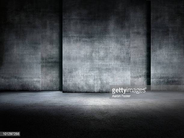 concrete room - copy space stock illustrations