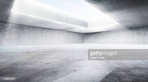 concrete warehouse - blank stock illustrations