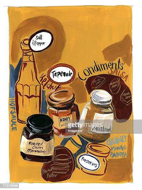 condiments - marmalade stock illustrations, clip art, cartoons, & icons