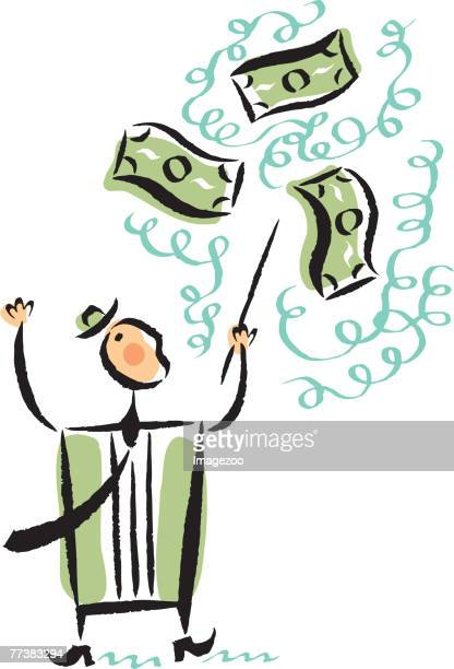 conducting money - fund manager stock illustrations, clip art, cartoons, & icons