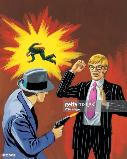 confrontation - agression stock illustrations, clip art, cartoons, & icons