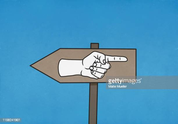confusing sign pointing in both directions - no people stock illustrations