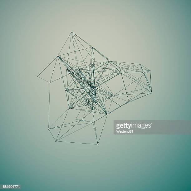 Connected structure of lines and spheres