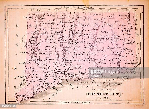 Connecticut 1852 Map