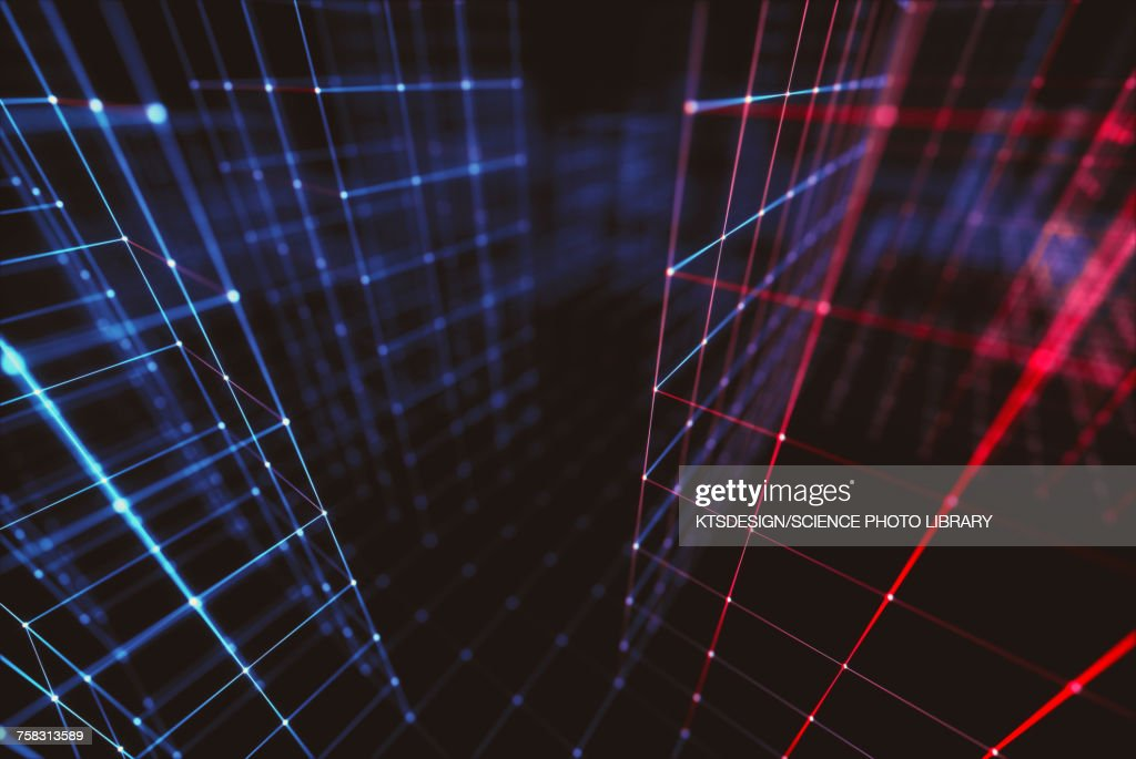Connecting lines, abstract illustration : Stock Illustration