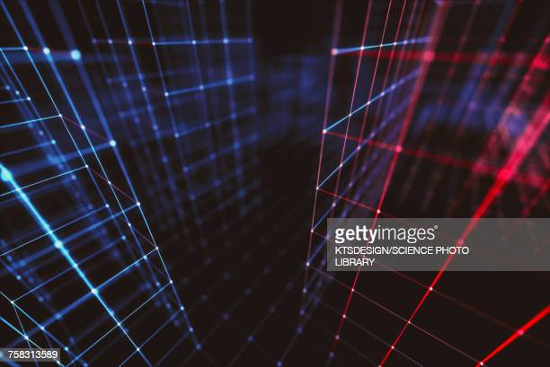 connecting lines, abstract illustration - technology stock illustrations