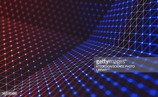connecting lines and dots, illustration - technology stock illustrations