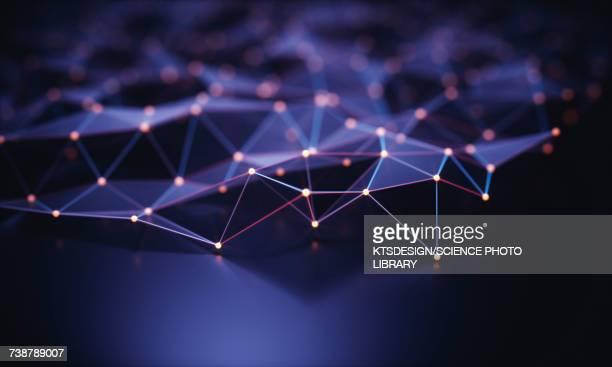 connecting lines, illustration - purple stock illustrations