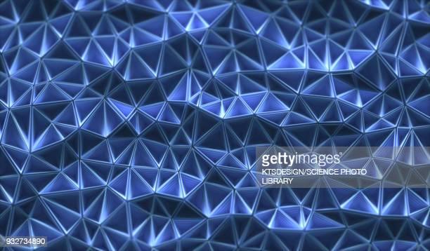 connecting triangular shapes, illustration - triangle shape stock illustrations