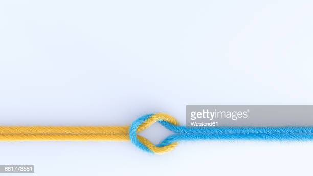 connection of two threads, 3d rendering - strength stock illustrations
