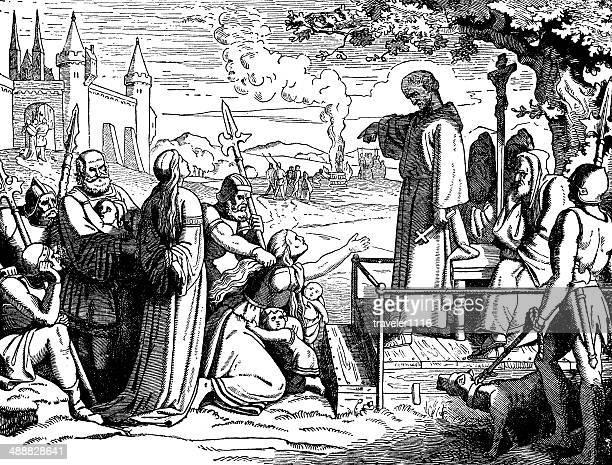 conrad of marburg, the inquisitor - burning stock illustrations, clip art, cartoons, & icons