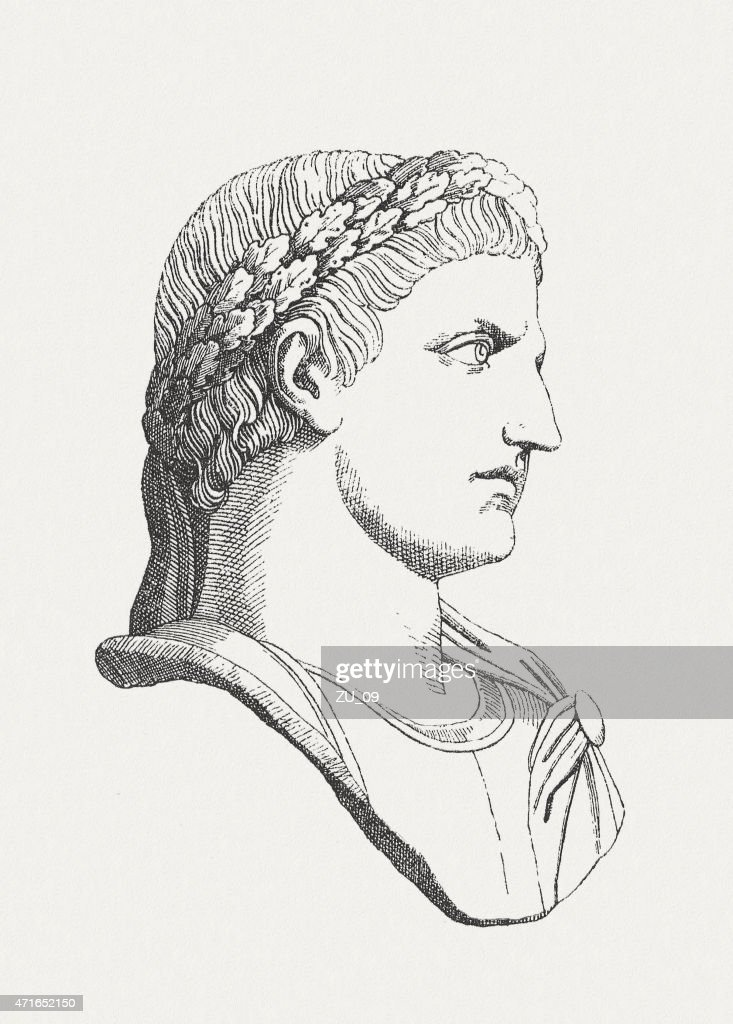 Constantine the Great (c.272-337 AD), Roman emperor, published in 1881 : stock illustration