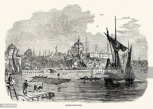 constantinople - ottoman empire stock illustrations