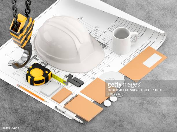 construction and engineering tools, illustration - instrument of measurement stock illustrations