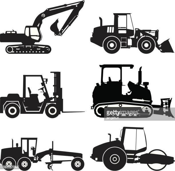Construction vehicle icons