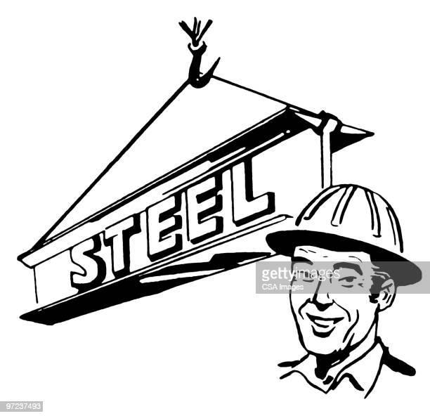 construction worker - work helmet stock illustrations