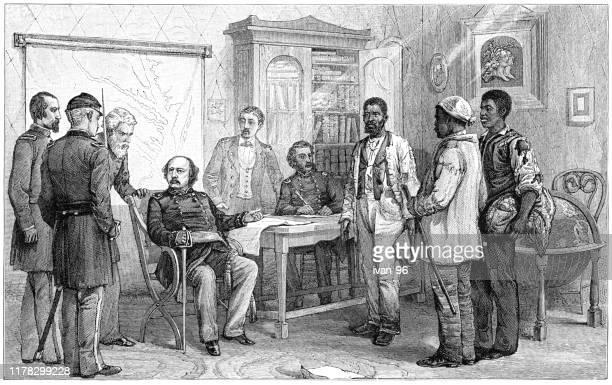 contraband of war - civil war stock illustrations