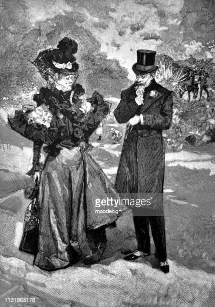 Conversation during a walk - 1896