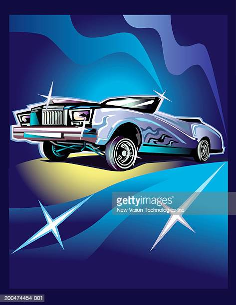 convertible low rider - low rider stock illustrations