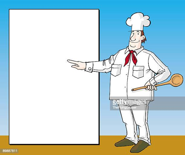cook and board - anthropomorphic foods stock illustrations, clip art, cartoons, & icons