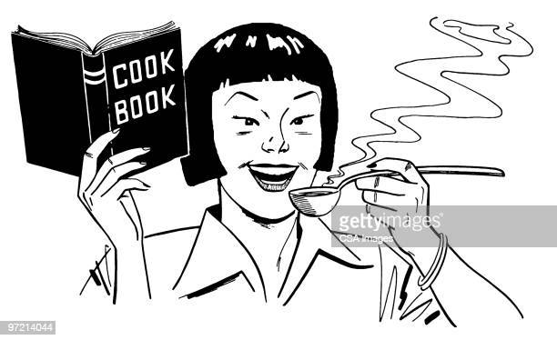 cook book - steam stock illustrations