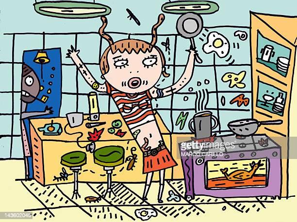 ilustraciones, imágenes clip art, dibujos animados e iconos de stock de cook - miembro humano