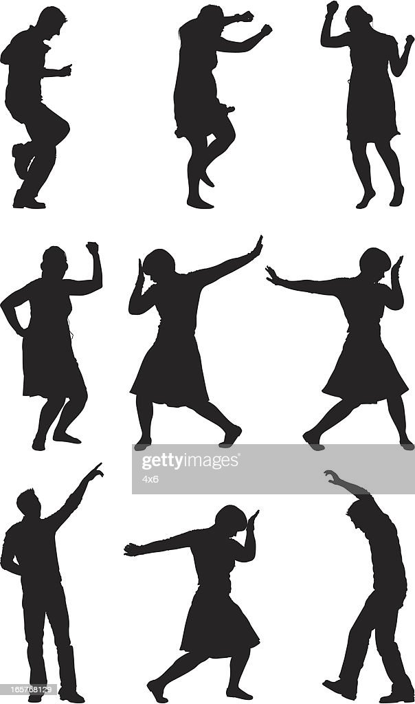 Cool Dance Moves Casual People Dancing High Res Vector Graphic Getty Images