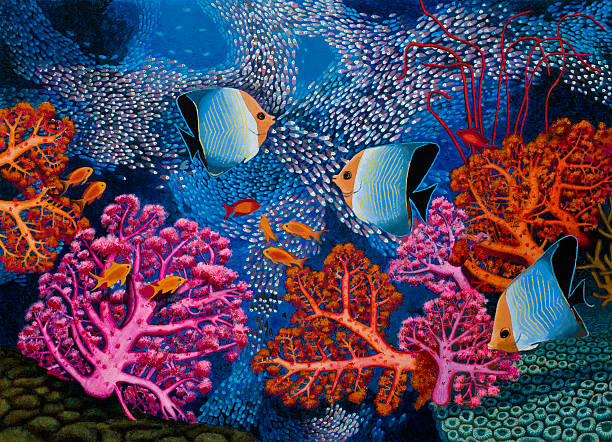 Coral Reef Scenery With Fish Wall Art