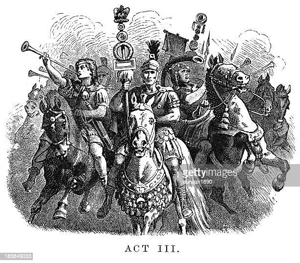 coriolanus - act iii - animals charging stock illustrations, clip art, cartoons, & icons