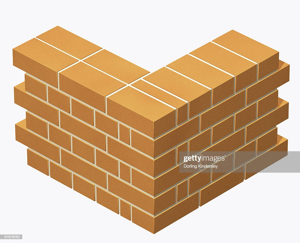 Corner of a brick wall built in english bond bricklaying pattern corner of a brick wall built in english bond bricklaying pattern stock illustration ccuart Choice Image