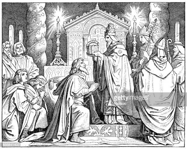 Coronation of Charlemagne (800) by Pope Leo III