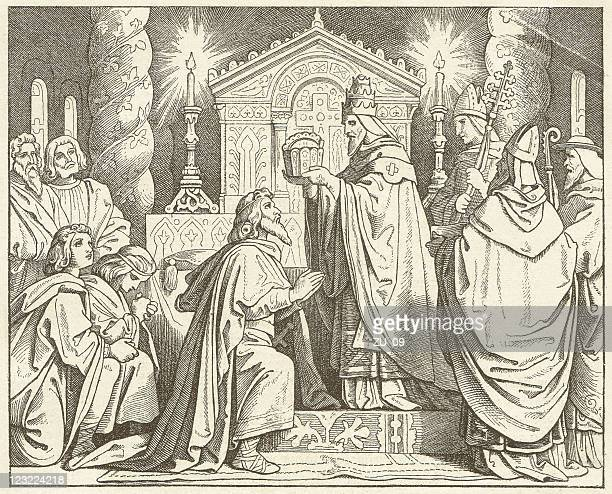 Coronation of Charlemagne (800) by Pope Leo III, published 1881
