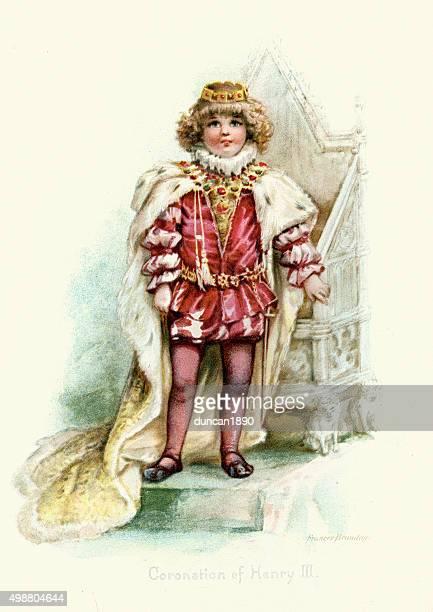 coronation of king henry iii - corona zon stock illustrations
