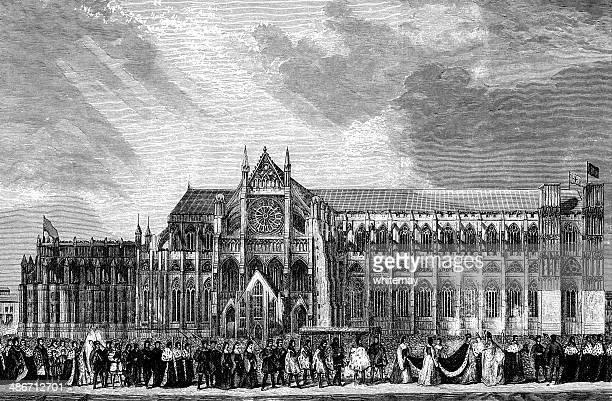 Coronation procession of Anne Boleyn to Westminster Abbey