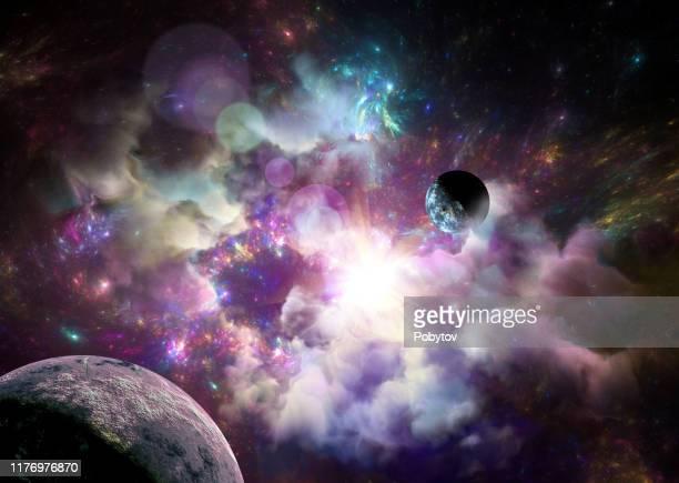 cosmic fantastic background - star field stock illustrations