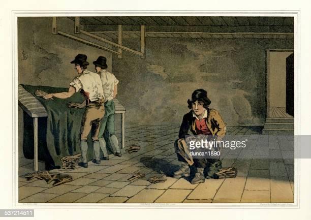 ilustraciones, imágenes clip art, dibujos animados e iconos de stock de el vestuario de yorkshire-preemer niño - revolucion industrial