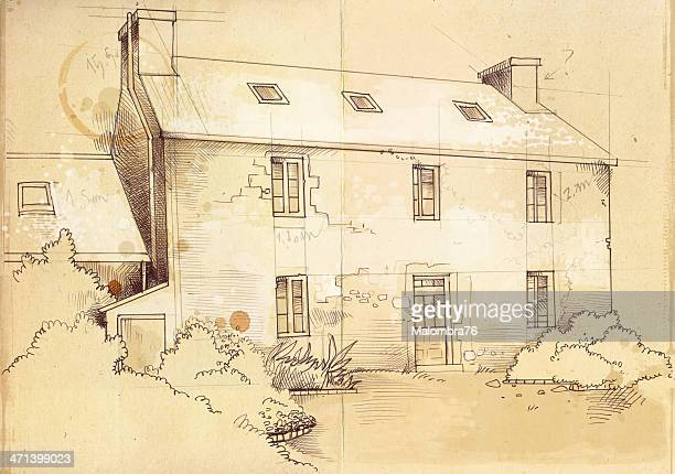 cottage - run down stock illustrations, clip art, cartoons, & icons