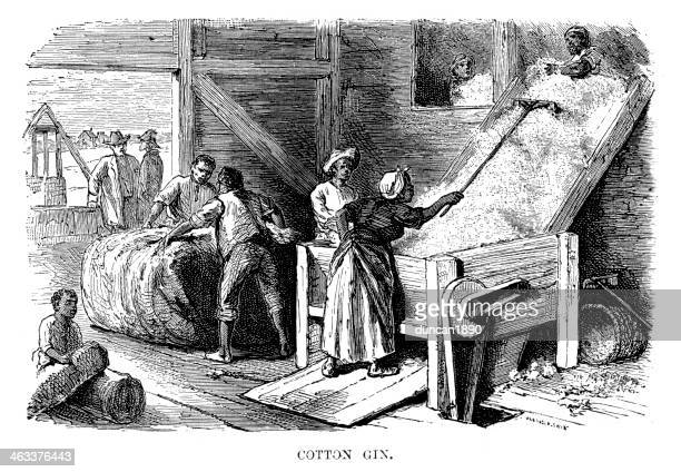 cotton gin - cotton stock illustrations, clip art, cartoons, & icons