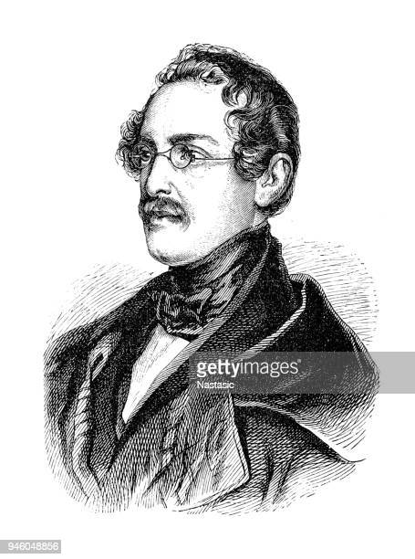 count anton alexander von auersperg ,was an austrian poet and liberal politician - governmental occupation stock illustrations, clip art, cartoons, & icons