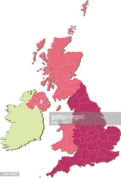 UK Counties countries three