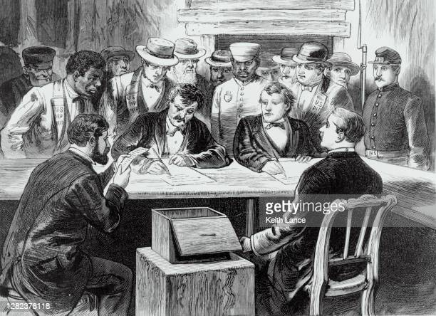 counting the votes after election day - united states presidential election stock illustrations